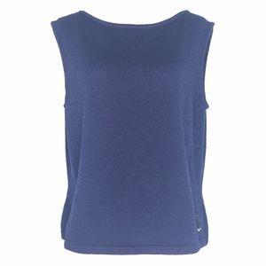 St. John Sport Blue Sweater Vest A010626